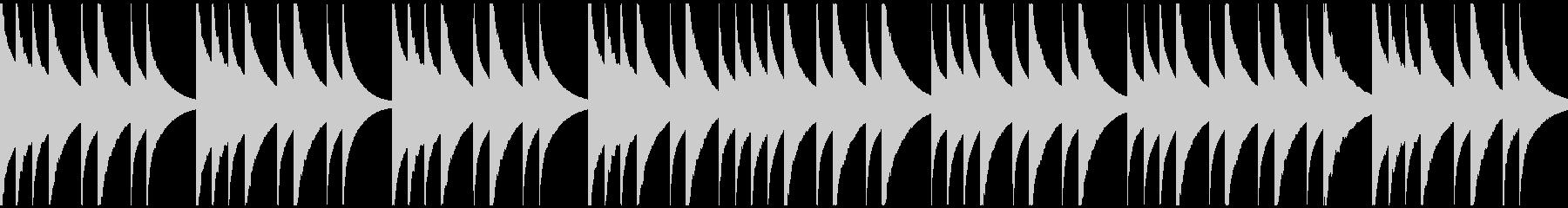 優しくゆったりとしたオルゴール曲の未再生の波形