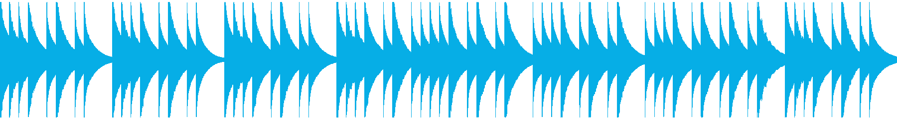 優しくゆったりとしたオルゴール曲の再生済みの波形