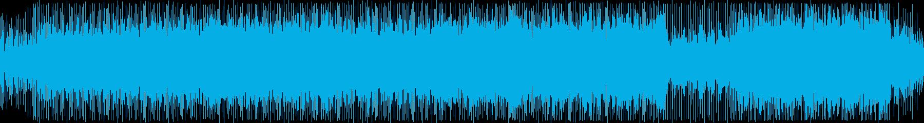ピアノが軽快なリズムを刻むポップスBGMの再生済みの波形