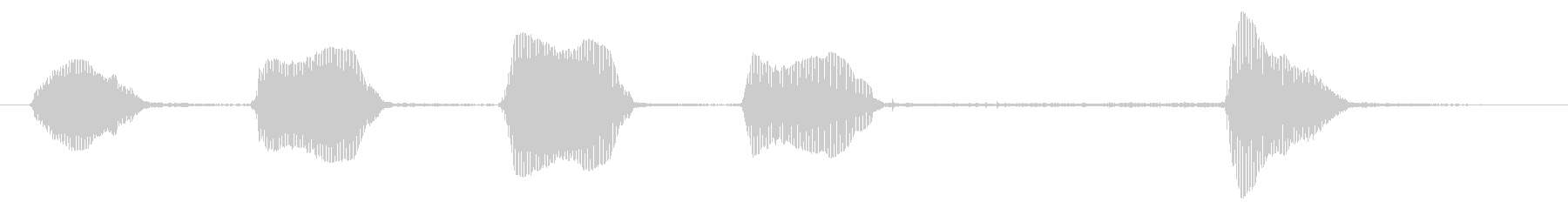 シール:Barえるの未再生の波形