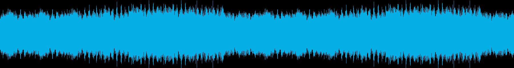 星が流れる綺麗な曲調のチップチューンの再生済みの波形