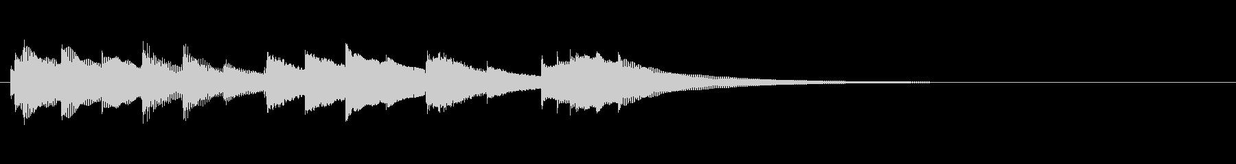 発車メロディー風オルゴールジングルの未再生の波形