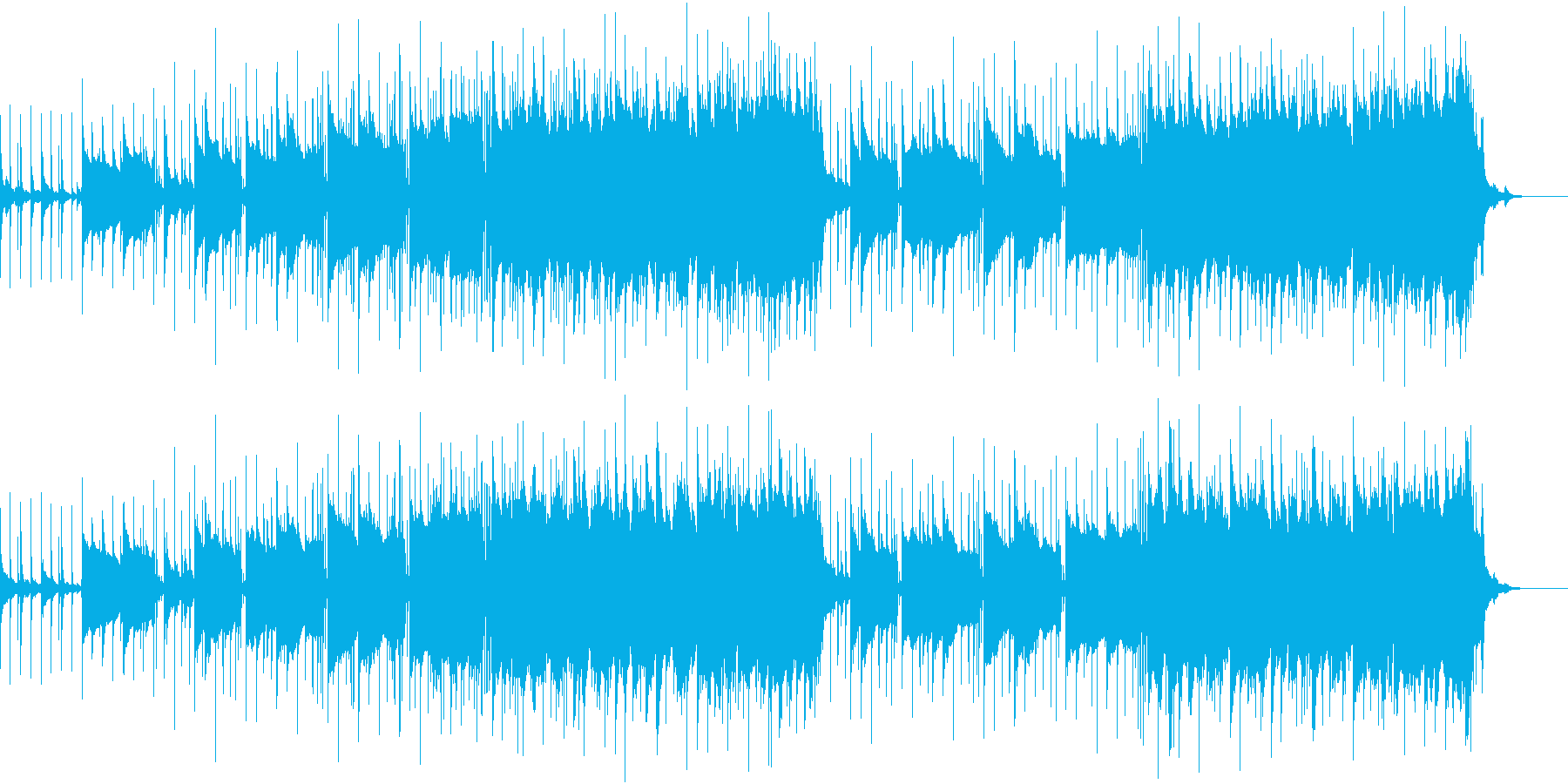 女王ヴォイスのスローの再生済みの波形