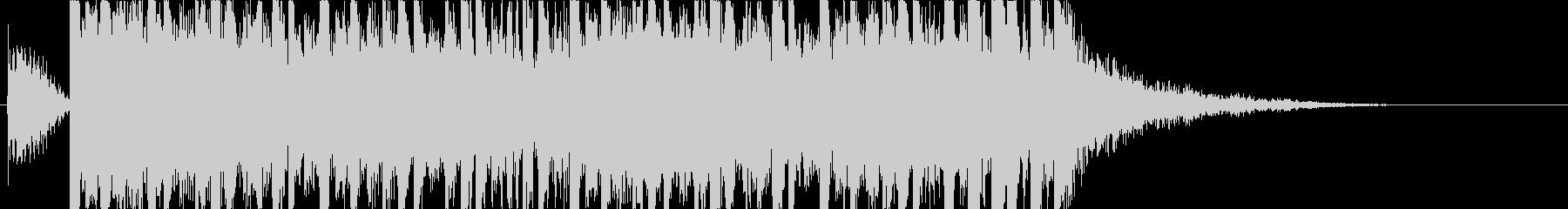 オリエンタルで前衛的なドラムンベースの未再生の波形