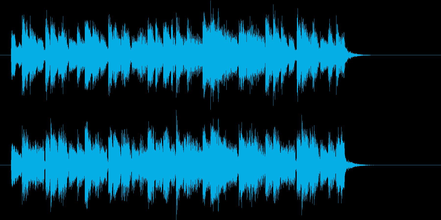 和やかでゆったりな明るい音楽の再生済みの波形