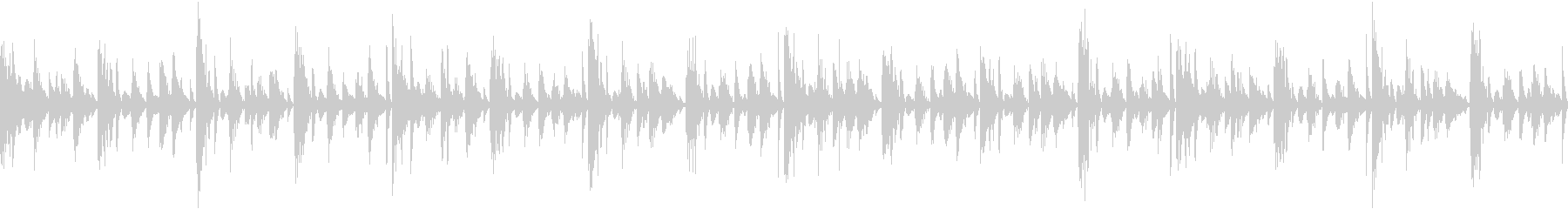 無機質な機械的ファンタジー風のループ曲の未再生の波形