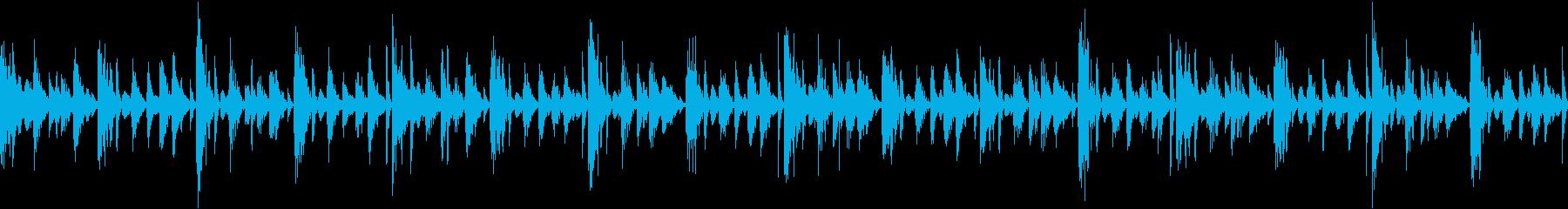 無機質な機械的ファンタジー風のループ曲の再生済みの波形