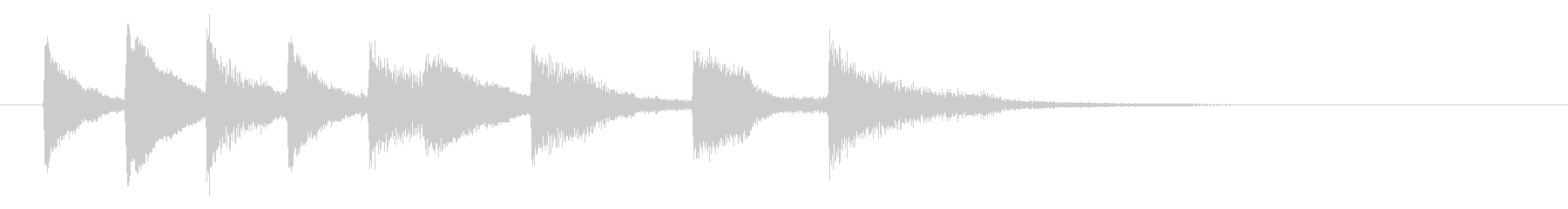 ジャズ風ピアノメロジングル サウンドロゴの未再生の波形