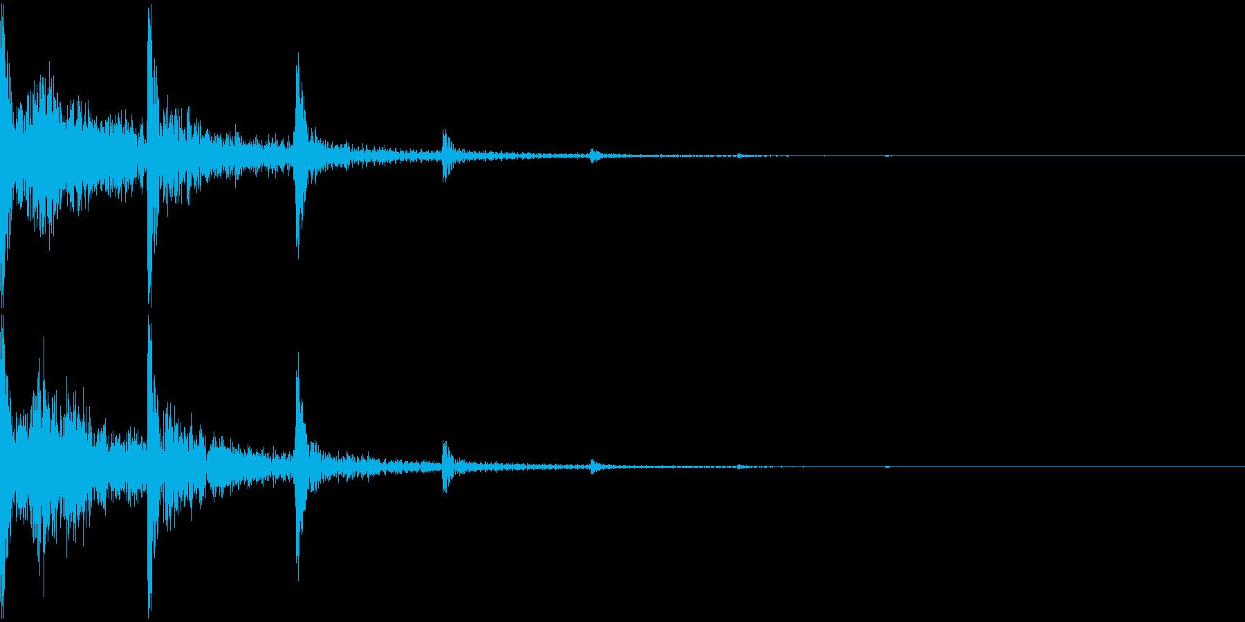 トーントーントーン...と響く音の再生済みの波形