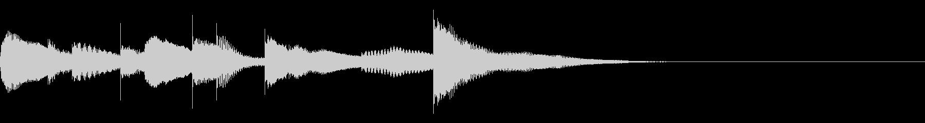 マリンバとグロッケンのジングル1の未再生の波形
