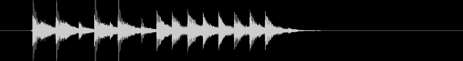 煌びやかでキャッチ―なポップジングルの未再生の波形