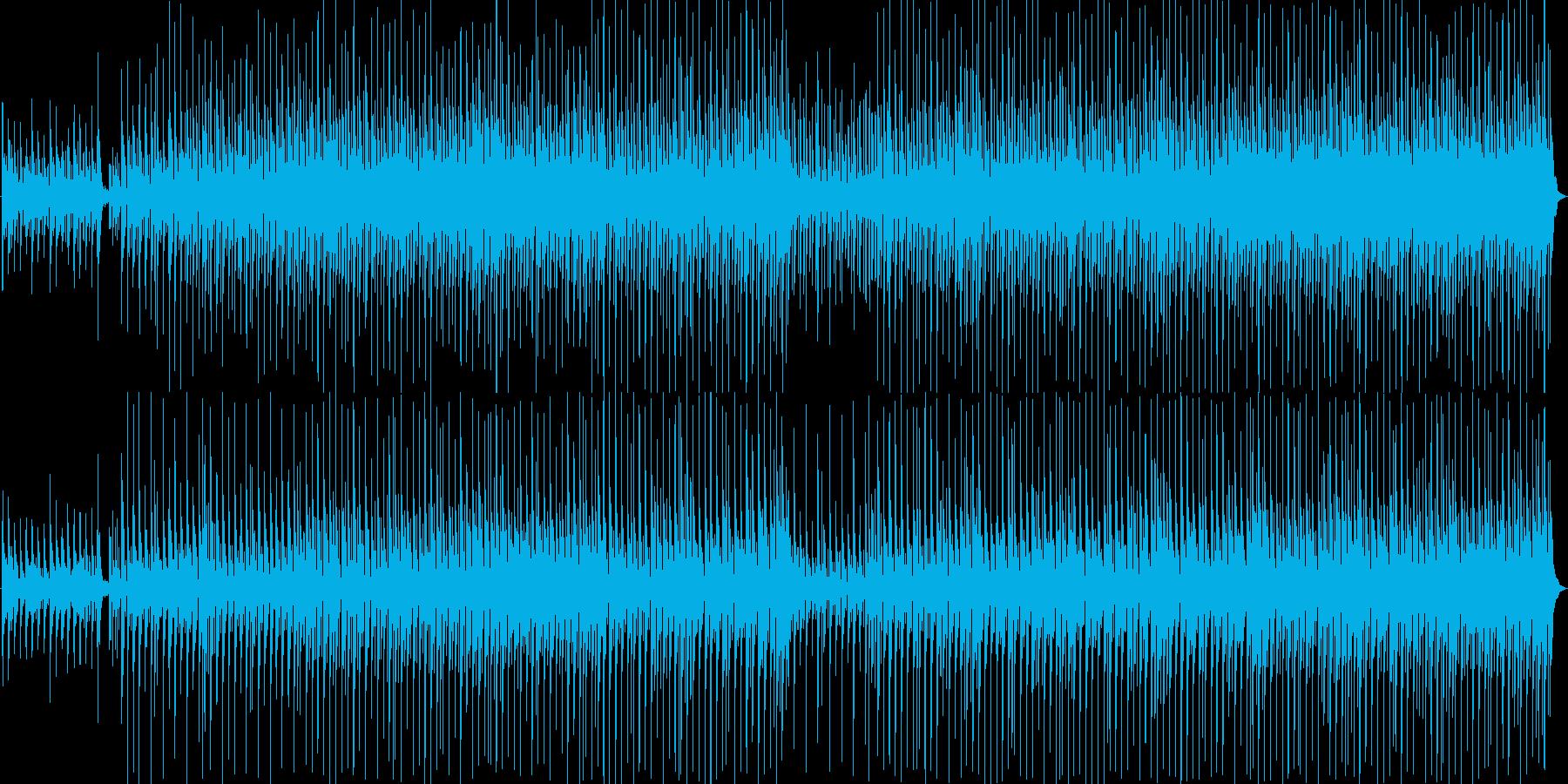 ほのぼの軽快なアコースティックメロディの再生済みの波形