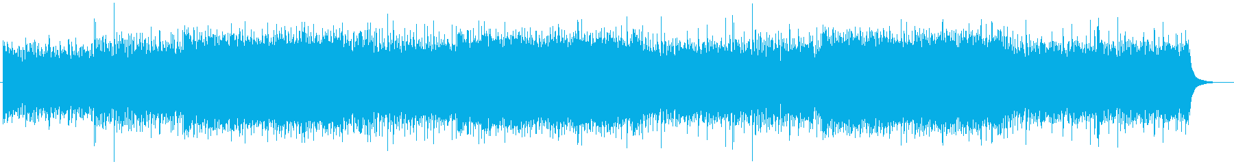Refreshing, positive and transparent corporate background music's reproduced waveform