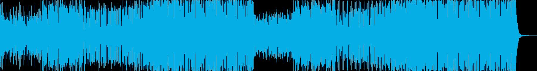 かっこいいエレクトロハウスの再生済みの波形