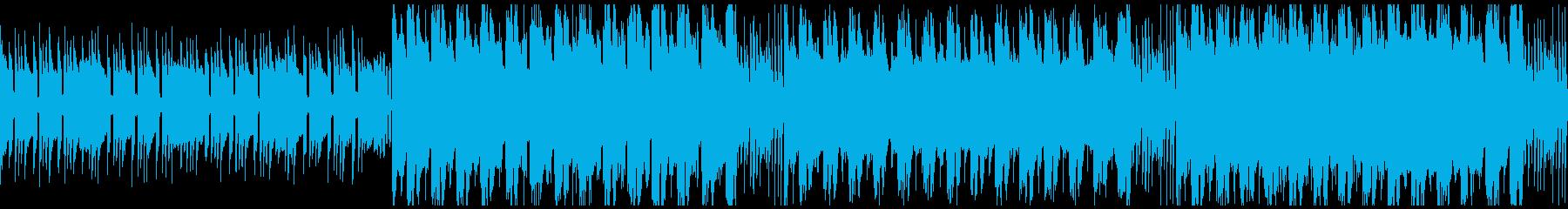 疾走感のあるポップなチップチューンの再生済みの波形