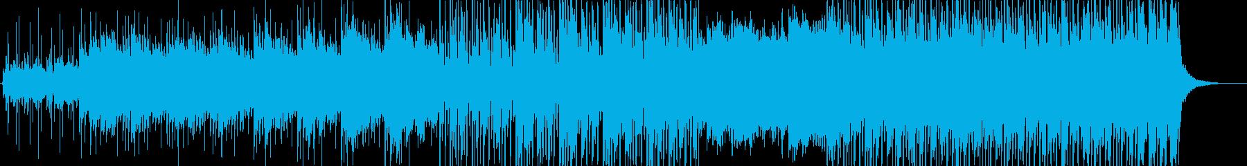 静かな悲しみのあるヒーリングミュージックの再生済みの波形