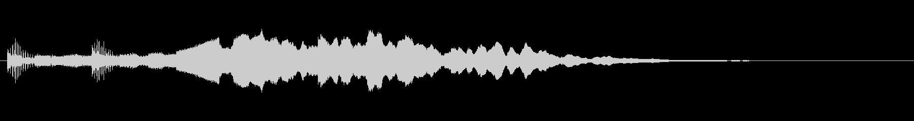 【サウンドロゴ】高級感のあるワンフレーズの未再生の波形