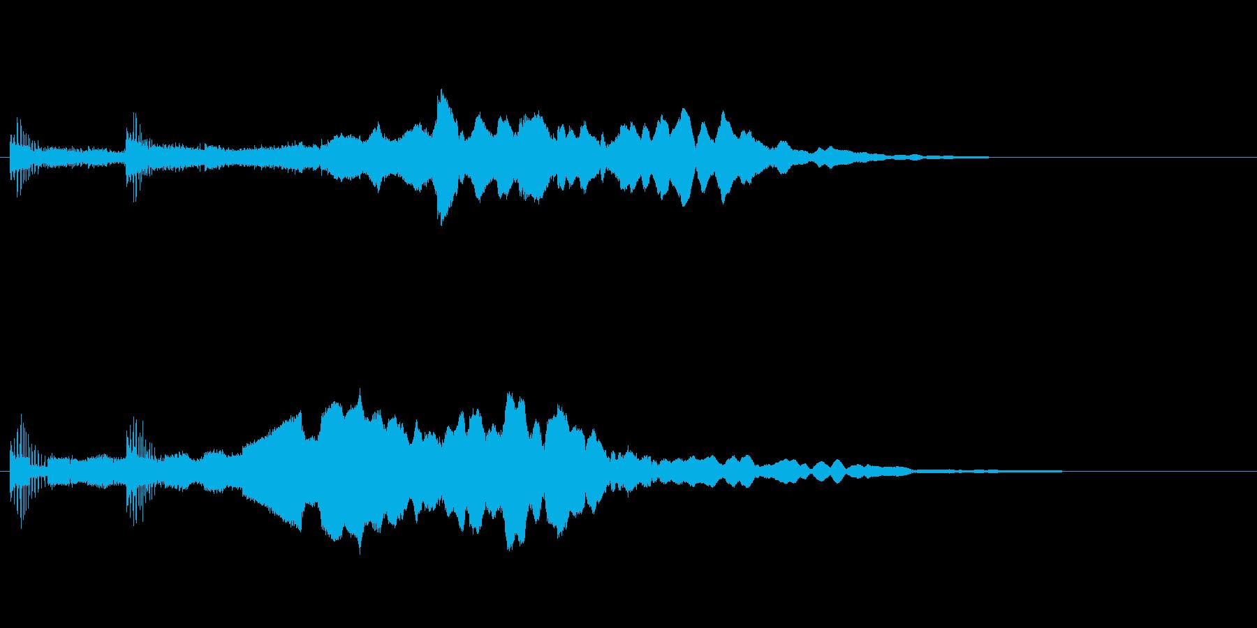 【サウンドロゴ】高級感のあるワンフレーズの再生済みの波形