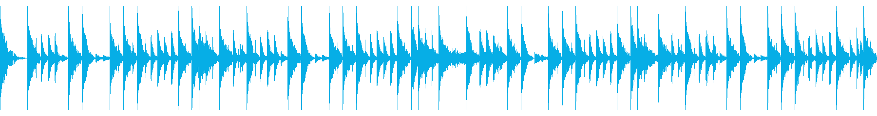 95 BPMの再生済みの波形
