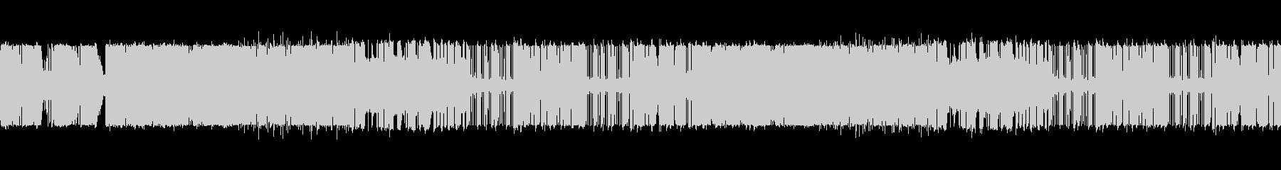 ベースギターとシンセの紋章のイメージ曲の未再生の波形