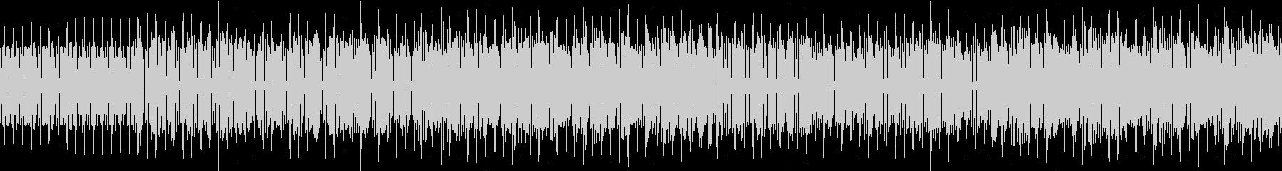 アップテンポなファミコン風ゲームBGMの未再生の波形