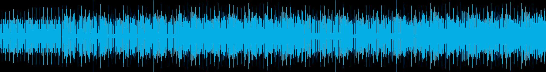アップテンポなファミコン風ゲームBGMの再生済みの波形