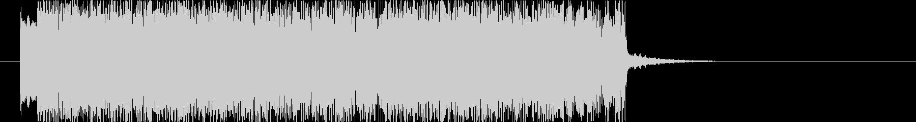 爽やかなロックサウンドのジングルの未再生の波形