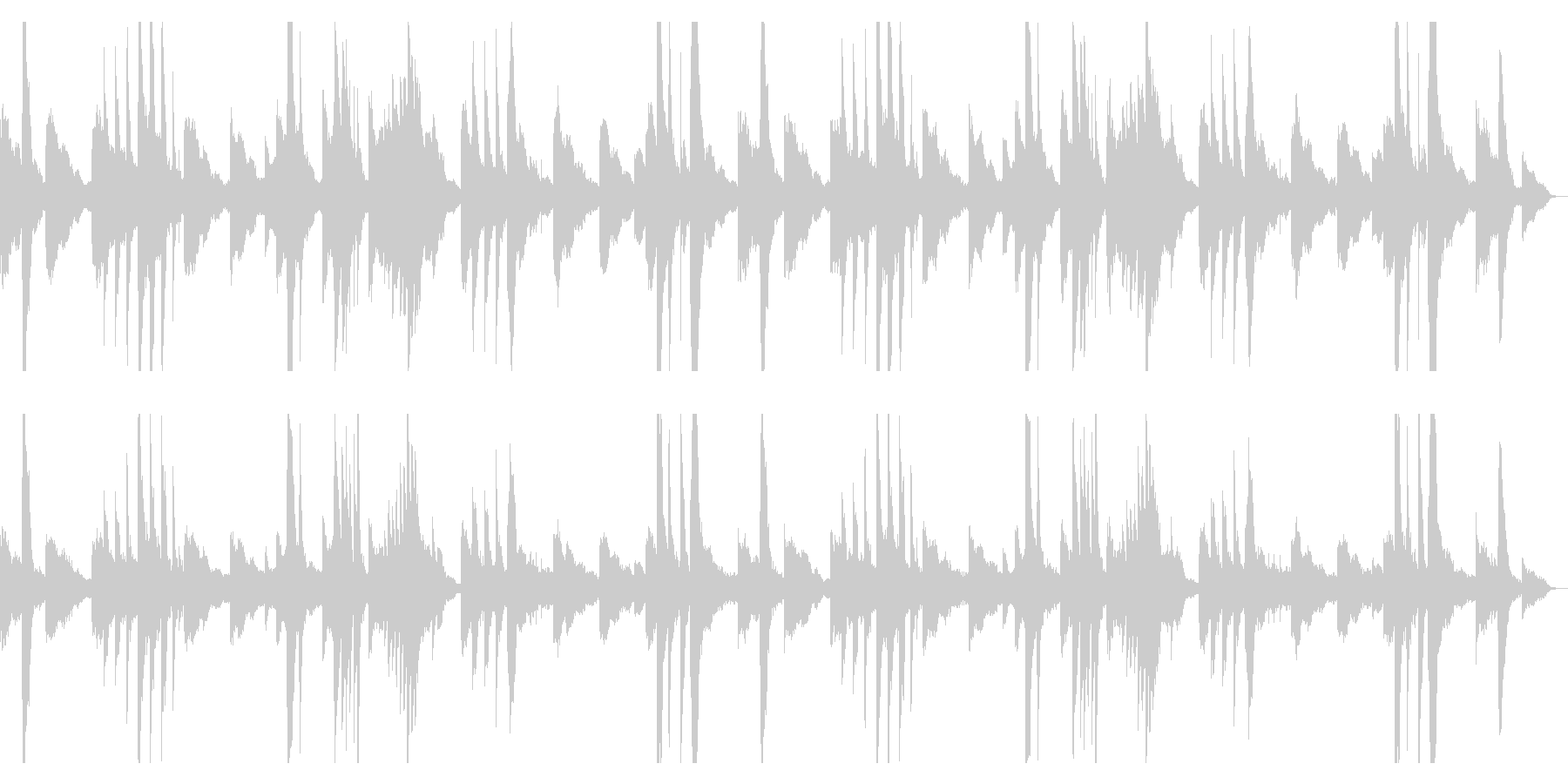 ピアノとギターのアンビエント2の未再生の波形