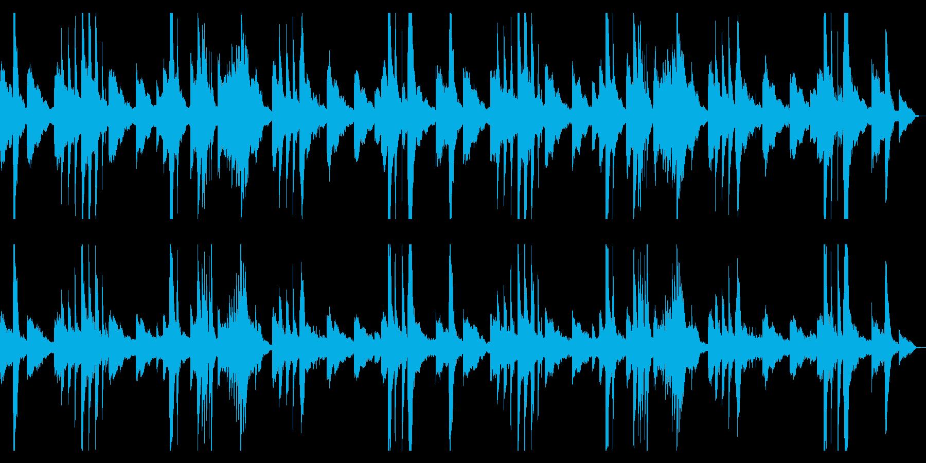 ピアノとギターのアンビエント2の再生済みの波形