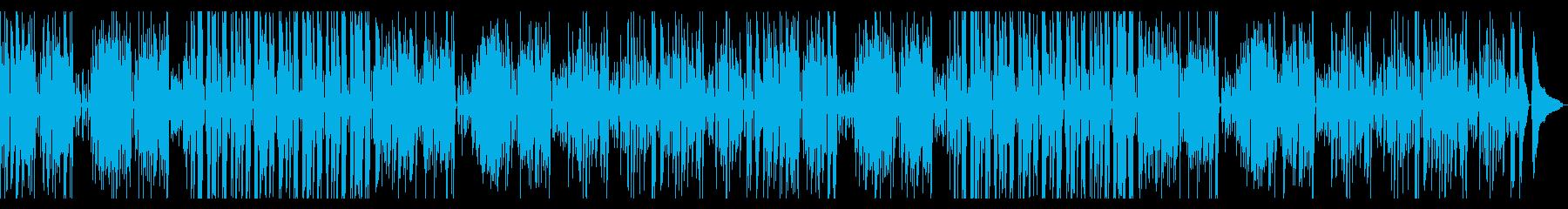 ラテン風の楽しい日常系BGMの再生済みの波形