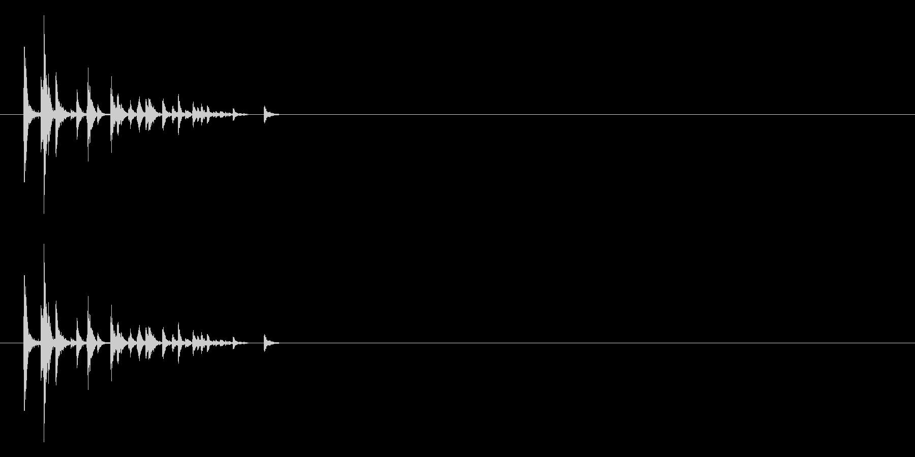 サイコロを振る/すごろく/ダイス_2個の未再生の波形