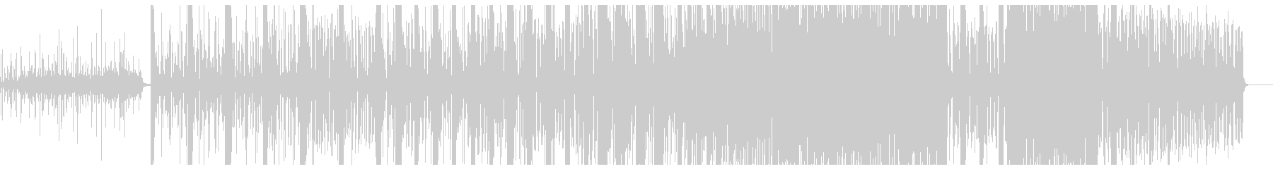 和太鼓とDTMミュージックの融合曲の未再生の波形