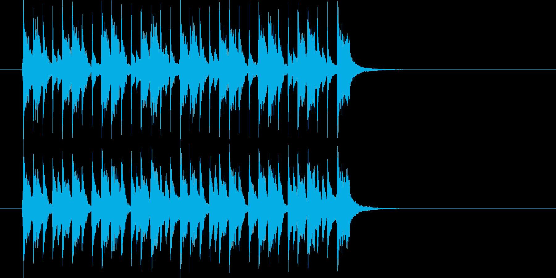 制限時間が迫るイメージのテクノポップの再生済みの波形