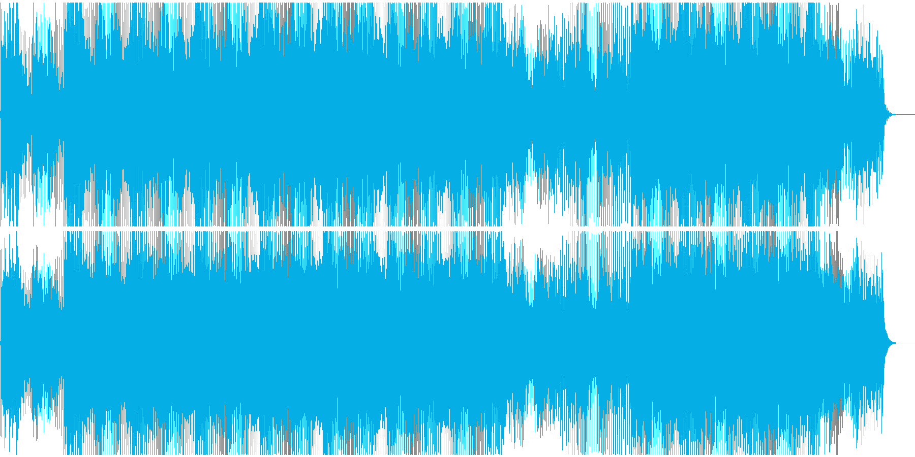 CMやVPに 企業プレゼン系ピアノ前向きの再生済みの波形
