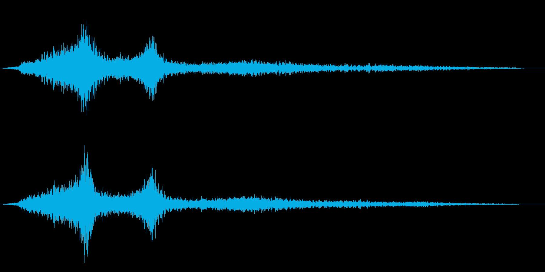 ホラー映画に出てきそうなノイズ系音源18の再生済みの波形