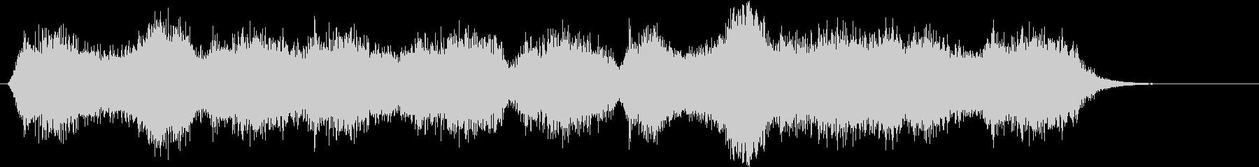 不気味な風の音がするBGMの未再生の波形
