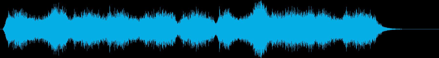 不気味な風の音がするBGMの再生済みの波形