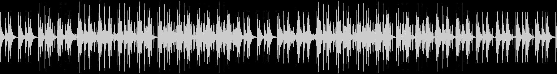 エンディング・感動的・映画風・ピアノの未再生の波形