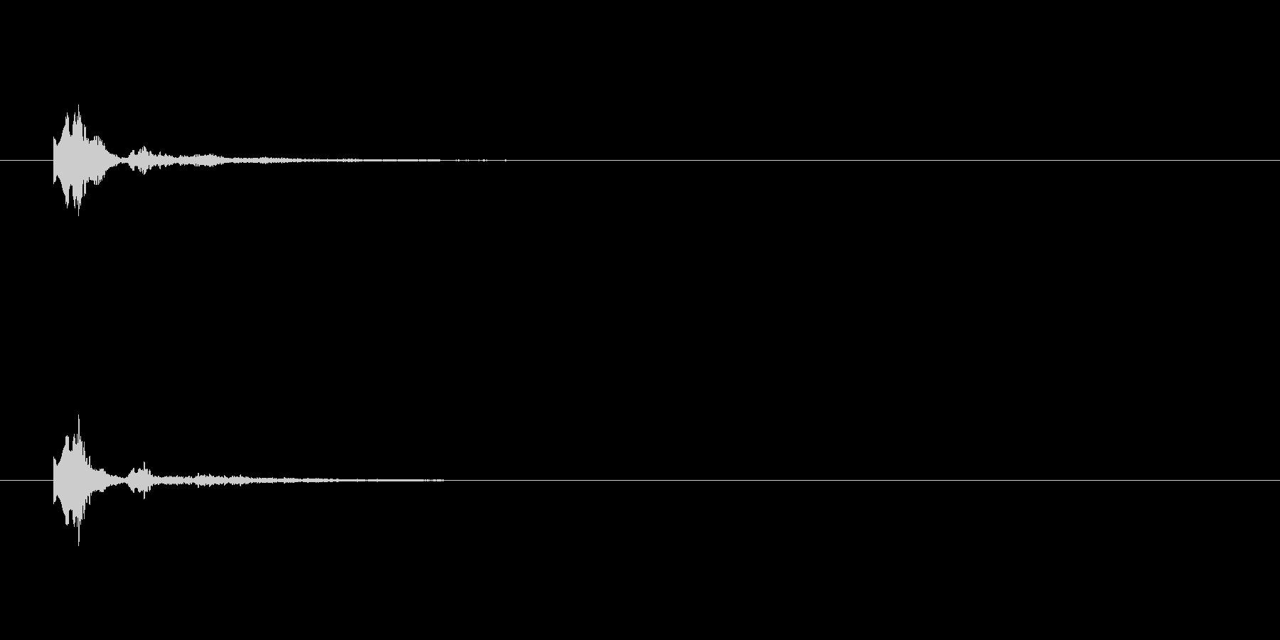 キャラン テロップ・決定音・タッチ音の未再生の波形