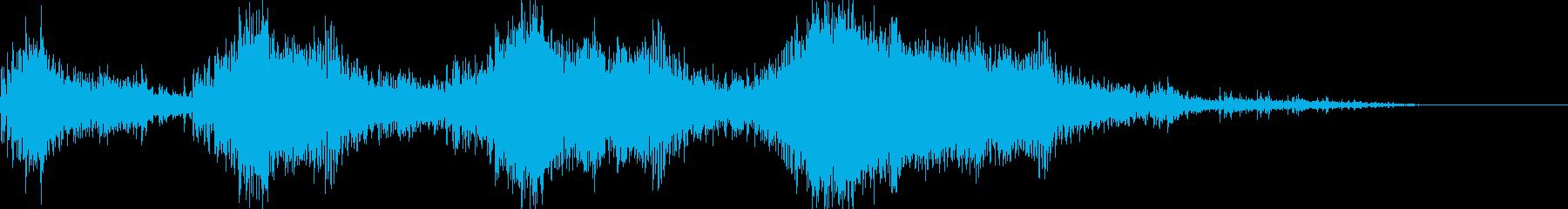 バイク オートバイの迫力あるアクセル音2の再生済みの波形