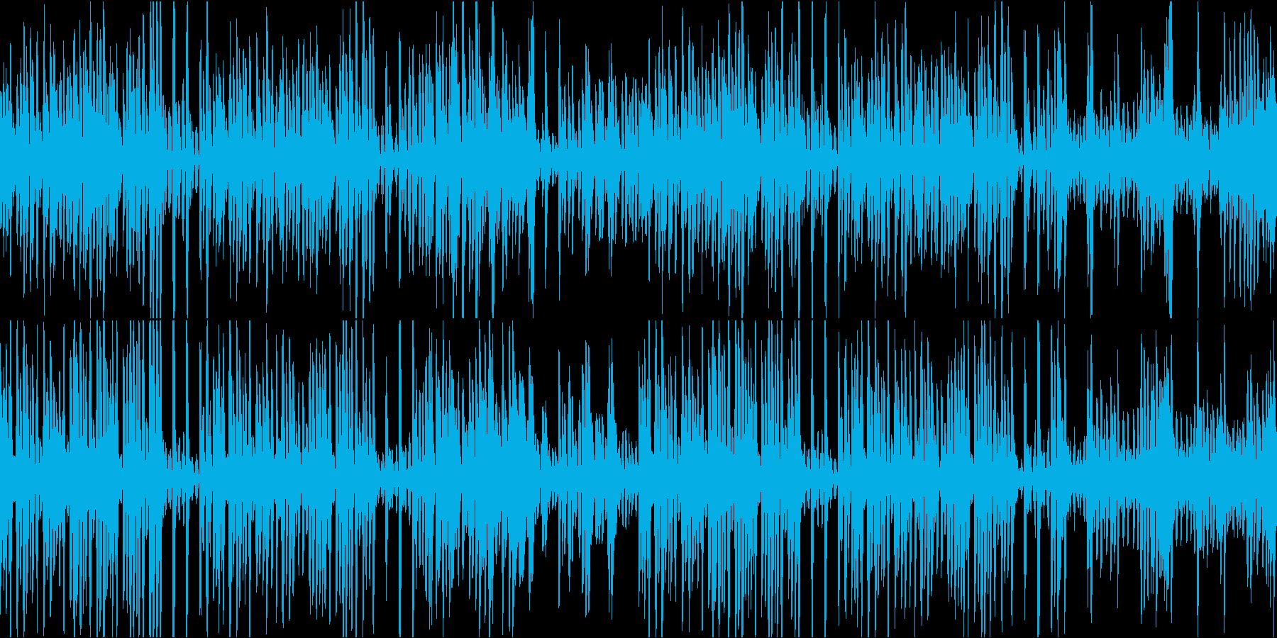 ウェスタン風ラグタイムピアノループの再生済みの波形
