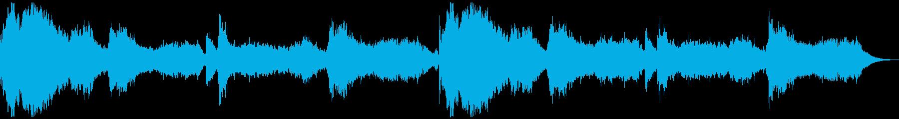 アンビエント系のホラー曲の再生済みの波形