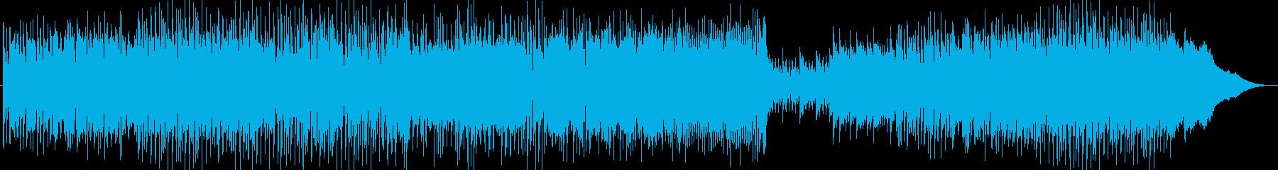 ピアノメインの爽やかBGMの再生済みの波形