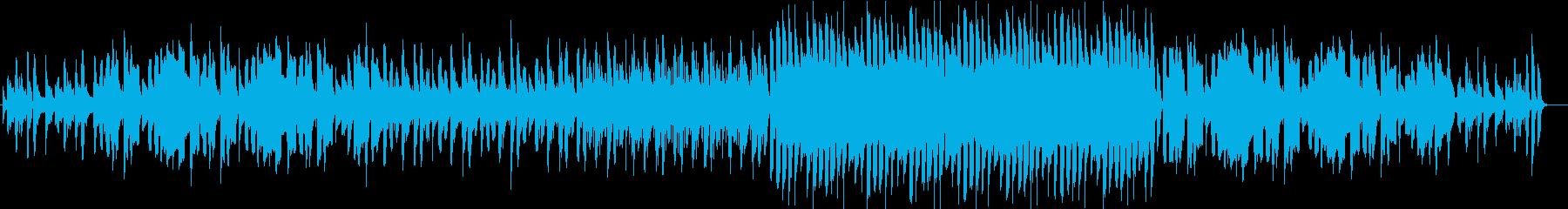 のほほんとした感じのスローテンポギター曲の再生済みの波形