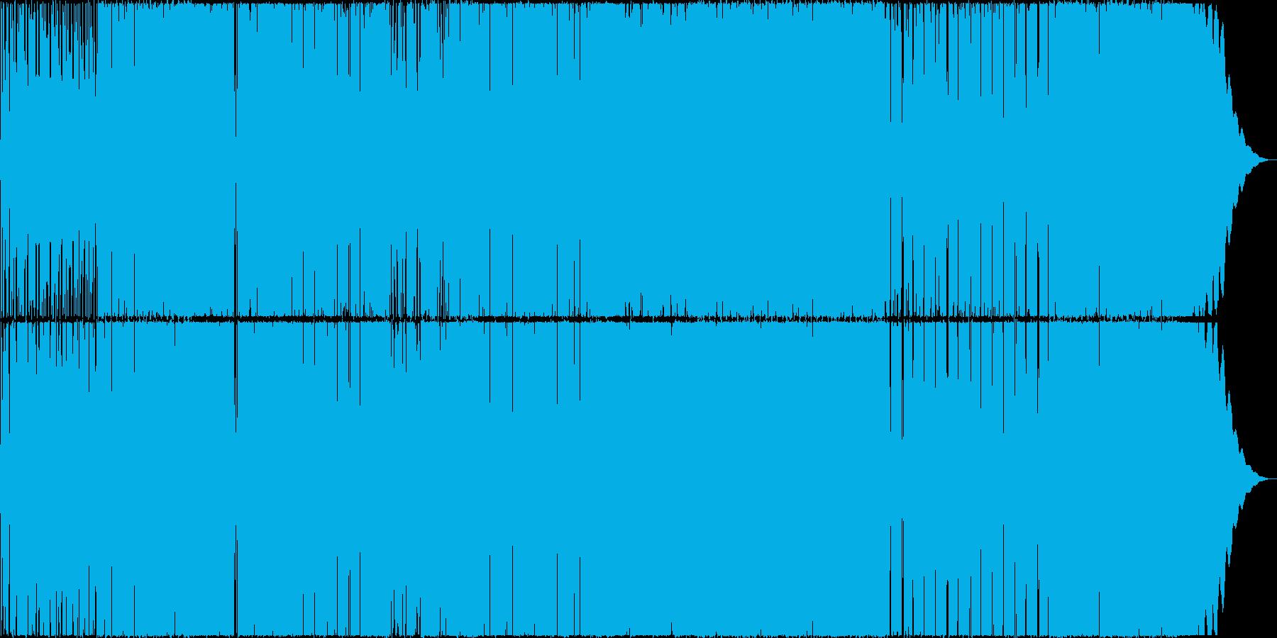 ノリのいいミドルテンポのロックの再生済みの波形