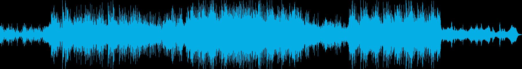 アンビエントで暖かい曲の再生済みの波形