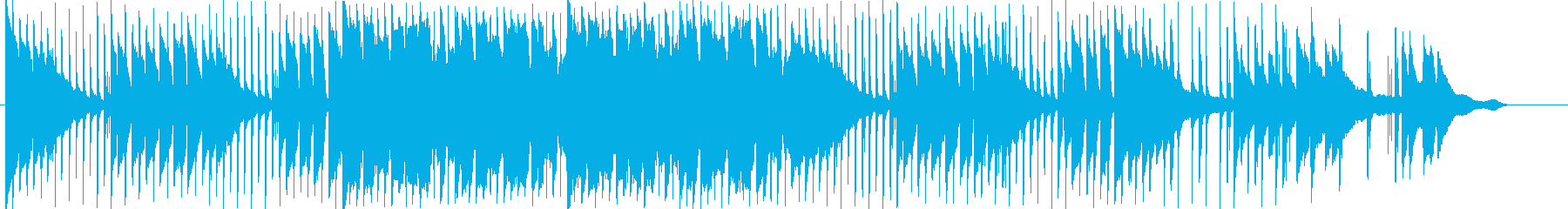 夕焼けをイメージしたエレクトロニカの再生済みの波形