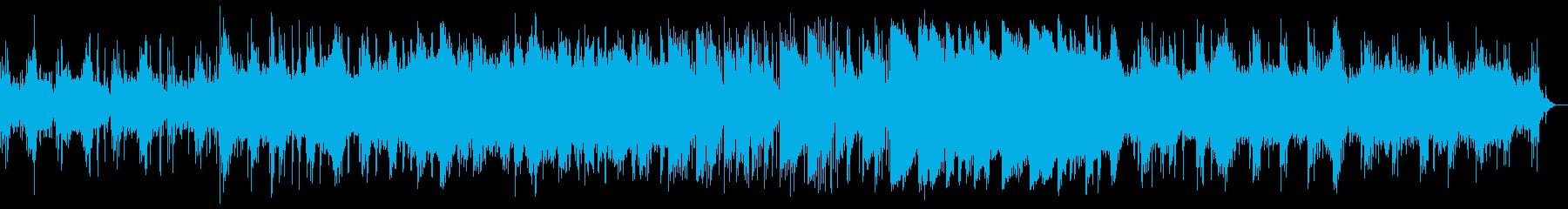 浮遊感あるゆったりなメロディーの再生済みの波形