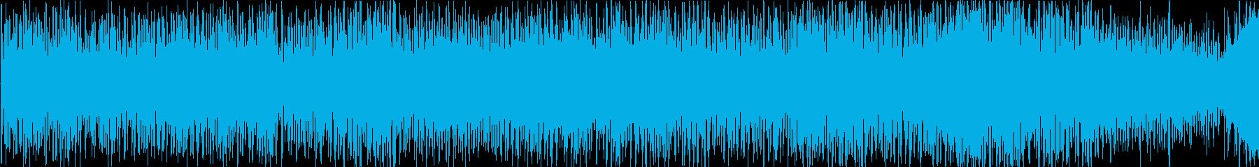 宇宙、チープ、ミニゲームに合うBGMの再生済みの波形