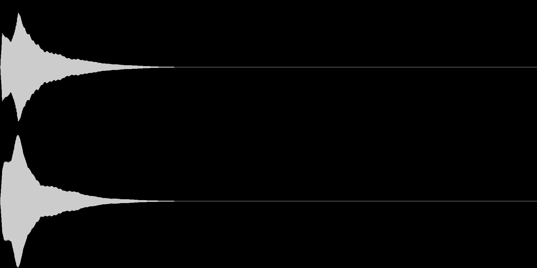 PureTouch アプリ用タッチ音36の未再生の波形